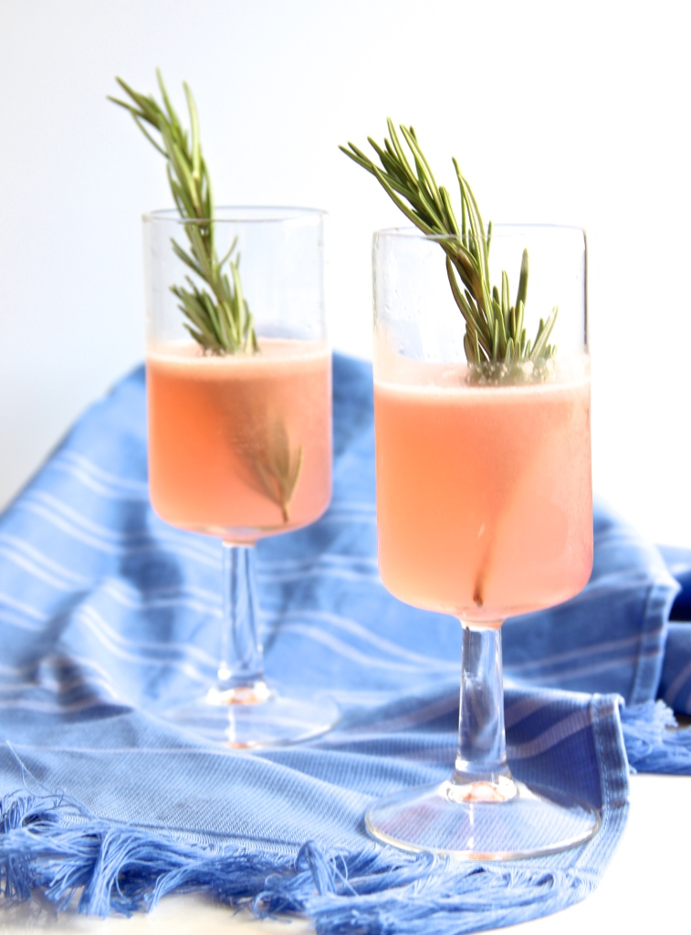 The Pink Panther // Grapefruit Rosemary Martini // The Shared Sip