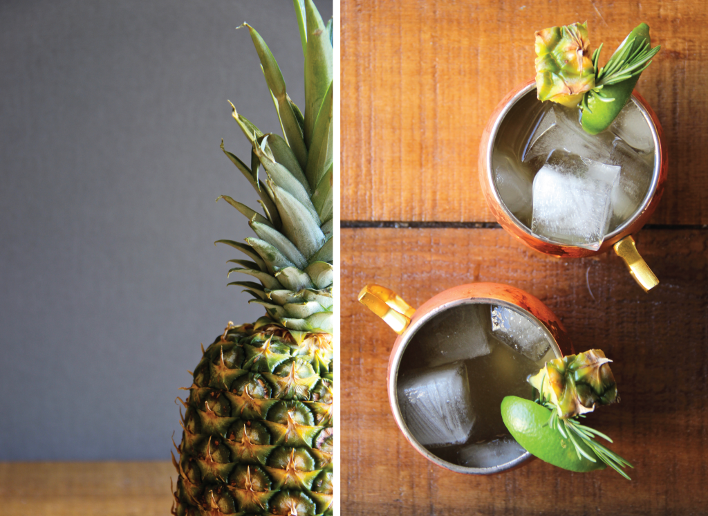 Pineapple Rosemary Mules // The Shared Sip