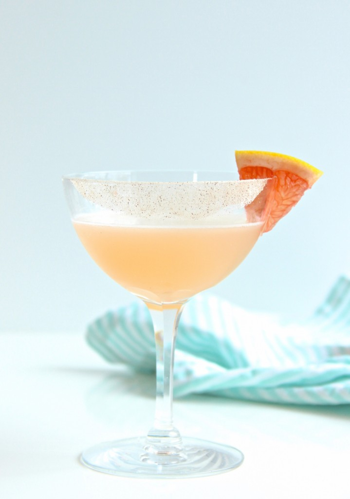 Tequila Grapefruit Cocktail with Cinnamon Syrup // The Shared Sip