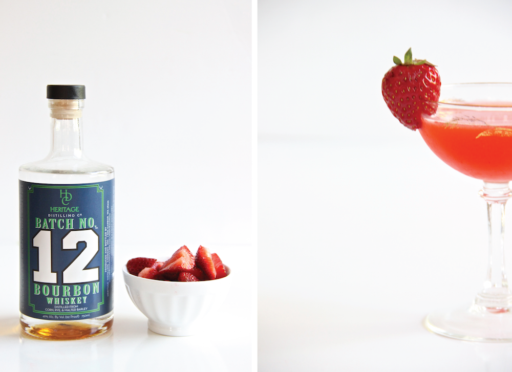Warehouse C // A Strawberry-Bourbon Cocktail // The Shared Sip
