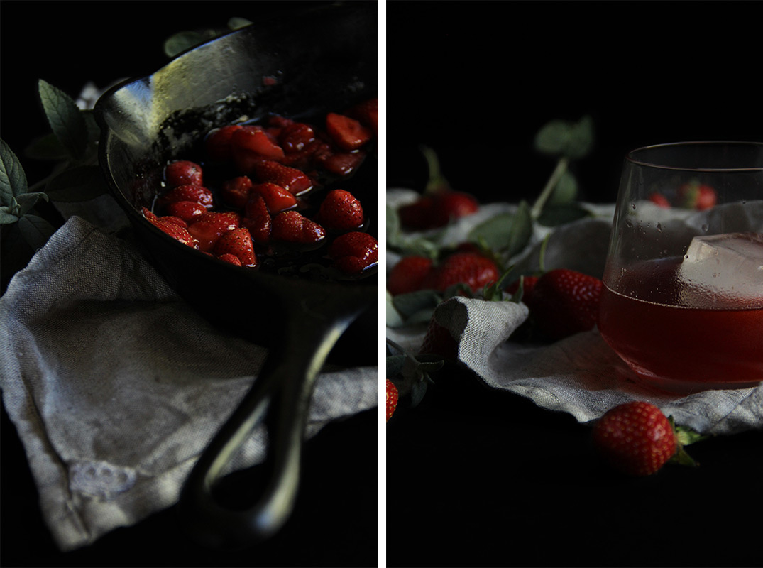 Strawberry Balsamic Negroni // The Shared Sip