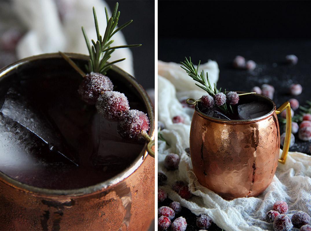 Cranberry Moscow Mules // The Shared Sip