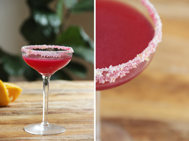 Beetlejuice: A beet juice, lemon and absinthe cocktail