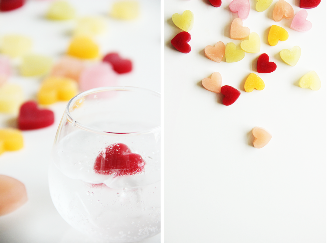 Conversation Heart Ice Cubes // The Shared Sip