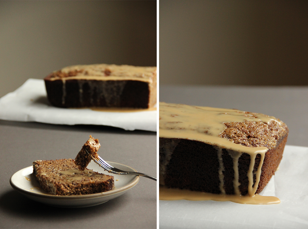 Banana Bread with Coffee Liqueur Glaze // The Shared Sip
