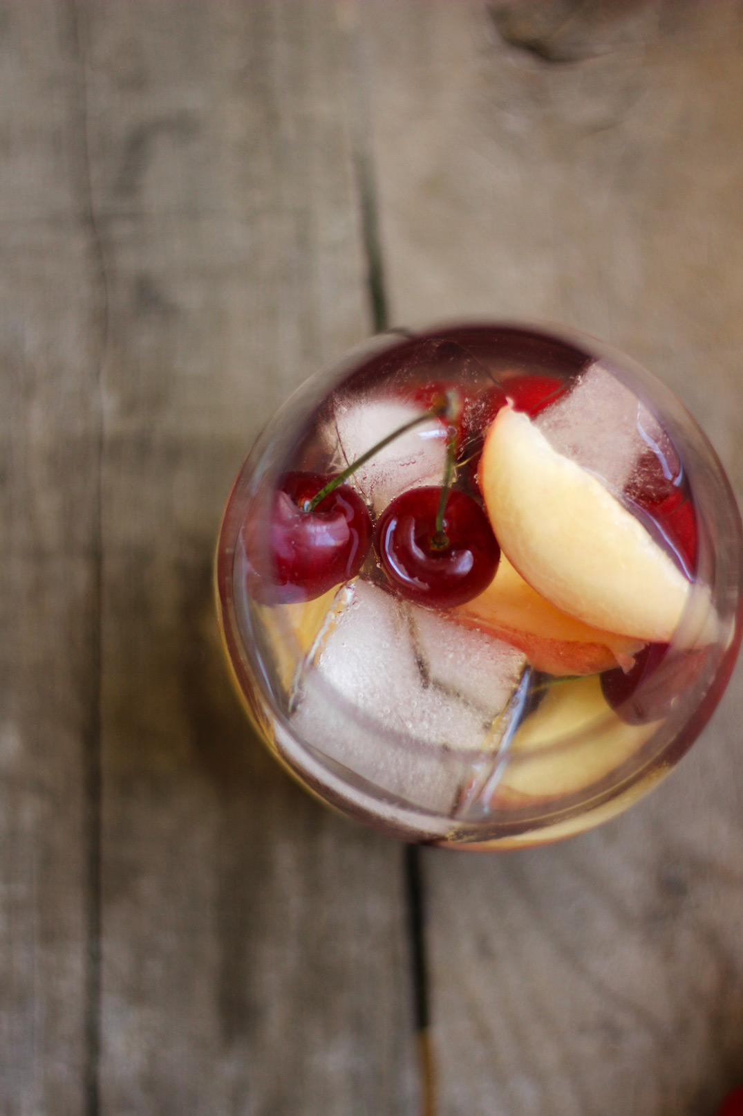 Cherry Compote + Peach Sangria // The Shared Sip