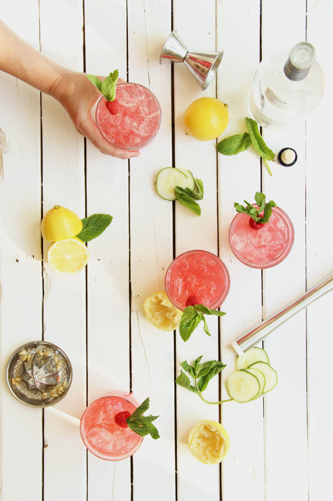 Raspberry Cucumber Mint Punch // The Shared Sip