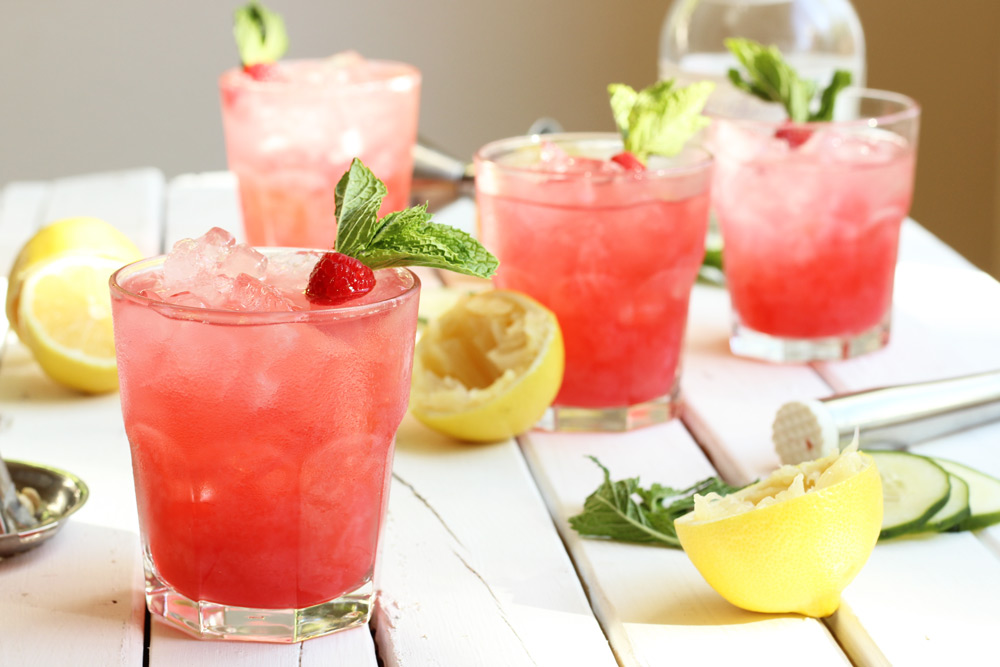 Raspberry Cucumber Mint Punch