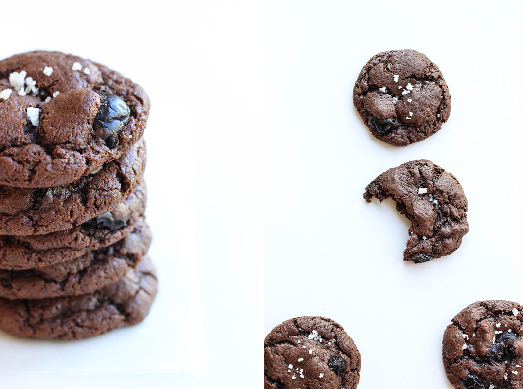 Double Chocolate Maraschino Cookies // Chocolate cookies packed with Luxardo Maraschino cherries - perfect with an old fashioned cocktail! // The Shared Sip