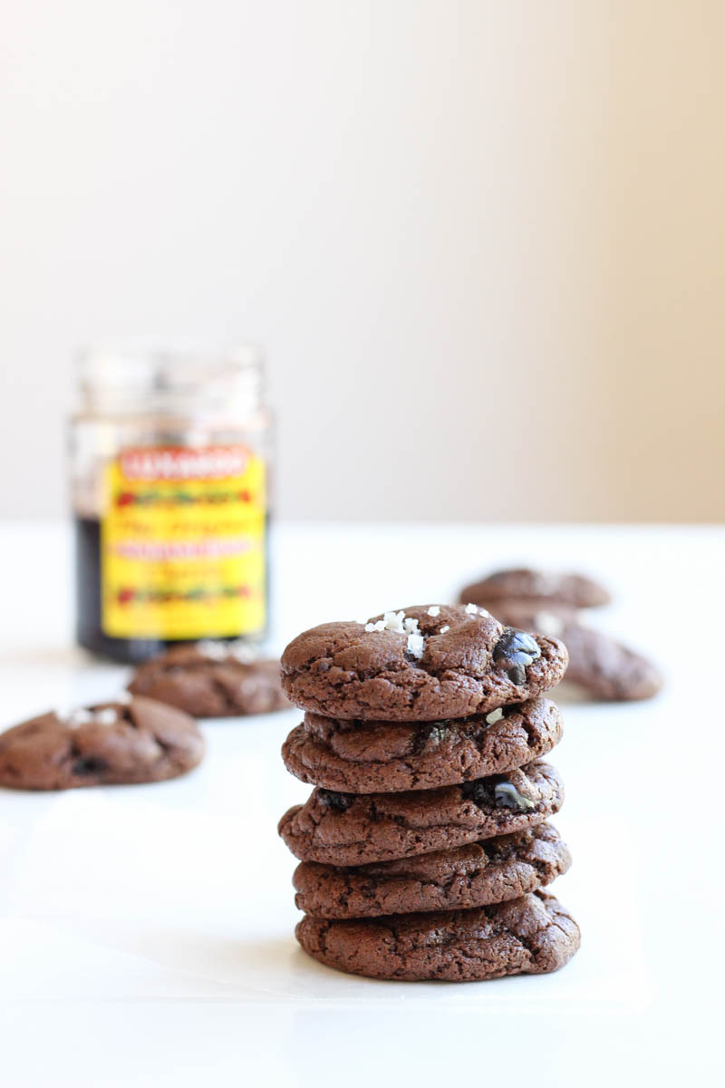 Double Chocolate Maraschino Cookies // Chocolate cookies packed with Luxardo Maraschino cherries - perfect with an old fashioned! // The Shared Sip