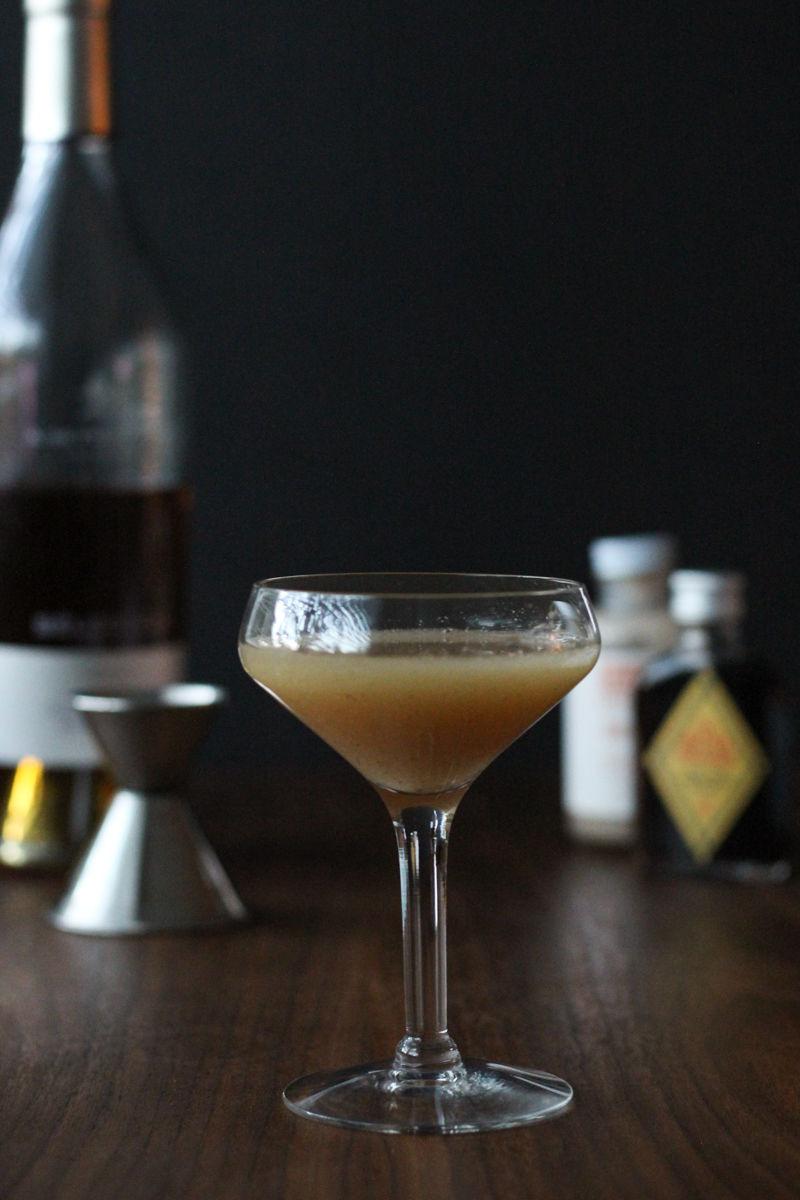 Japanese Cocktail // A cognac, orgeat and bitters cocktail // The Shared Sip