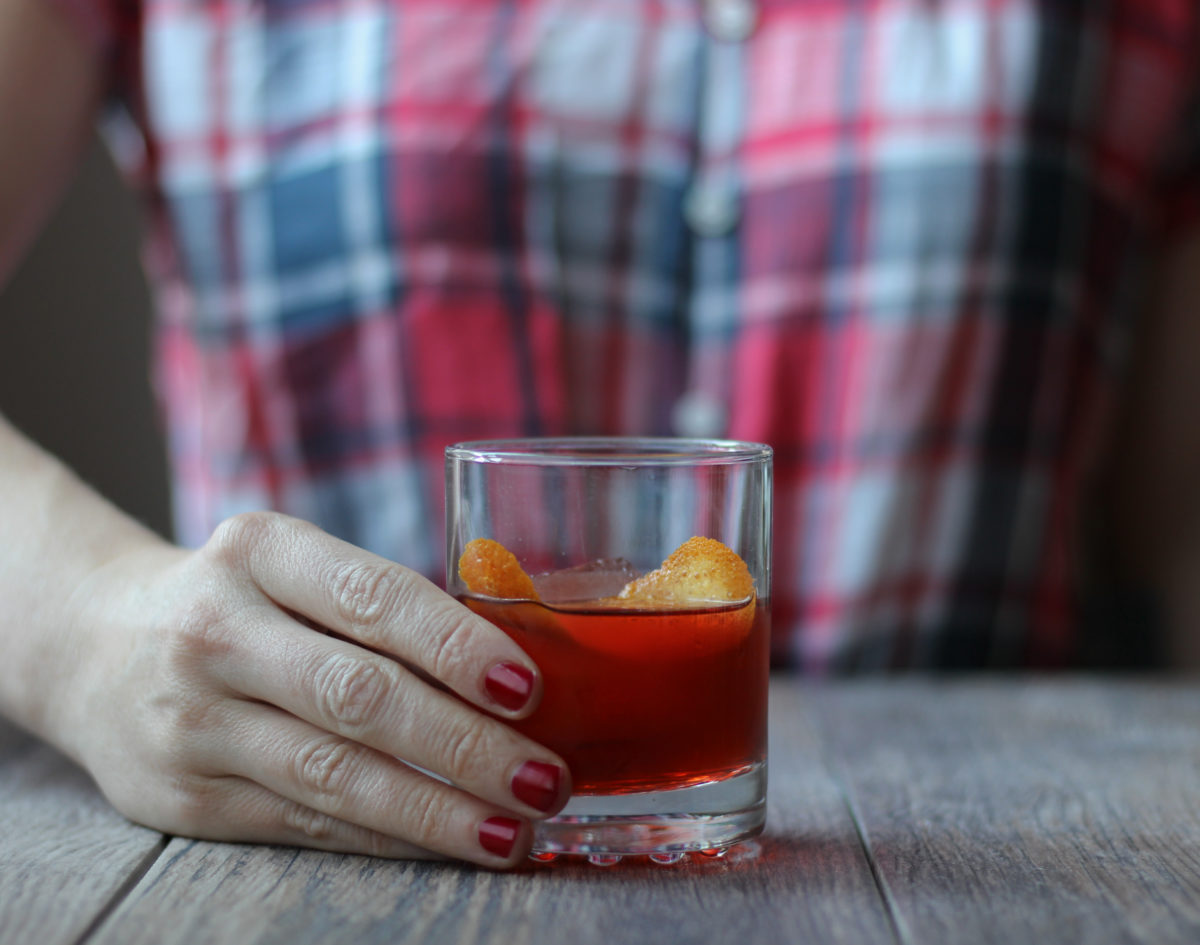 Boulevardier // A classic cocktail with rye whiskey, Campari, and sweet vermouth // The Shared Sip